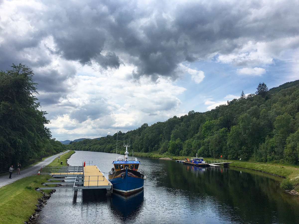 Agnes Kay in Gairlochy Caledonian Canal