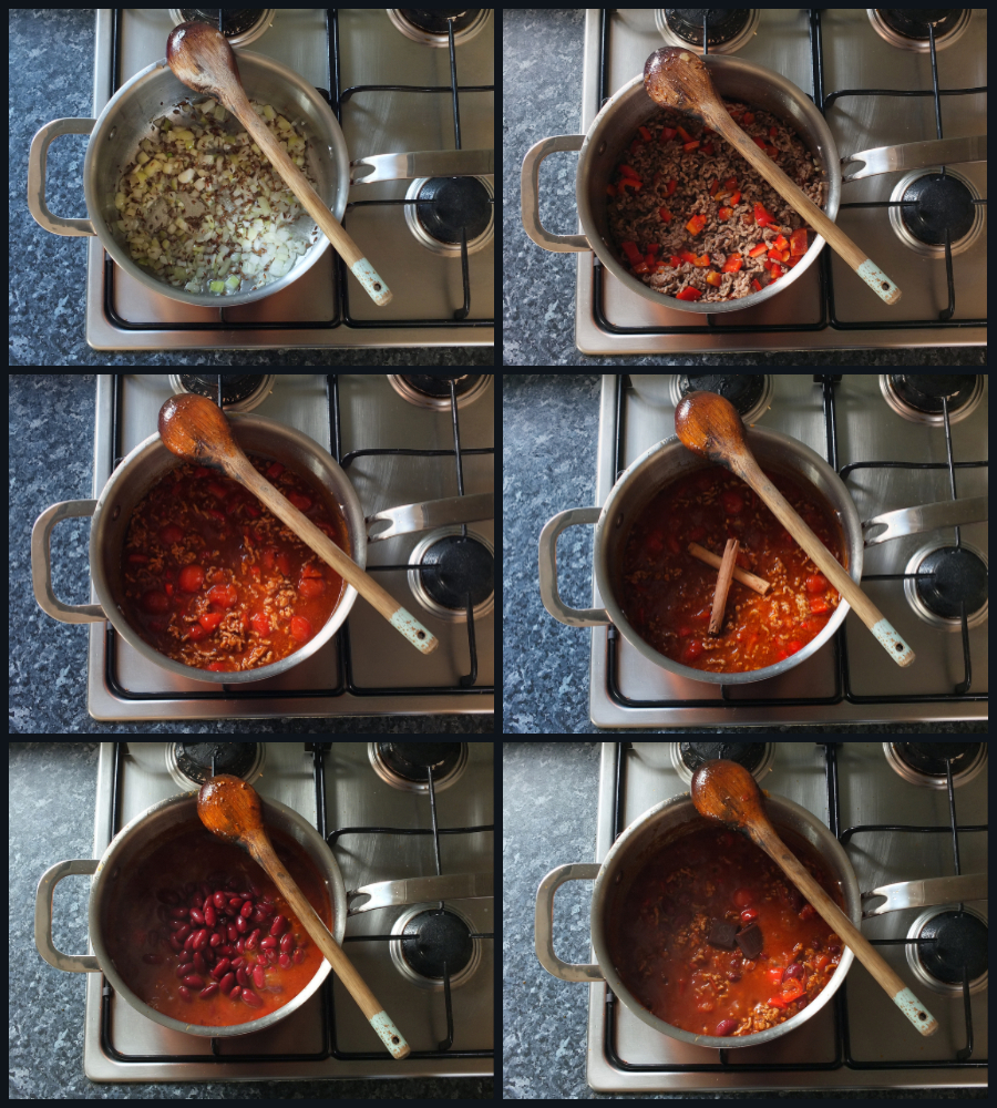 How to make lamb chilli con carne step by step instructions