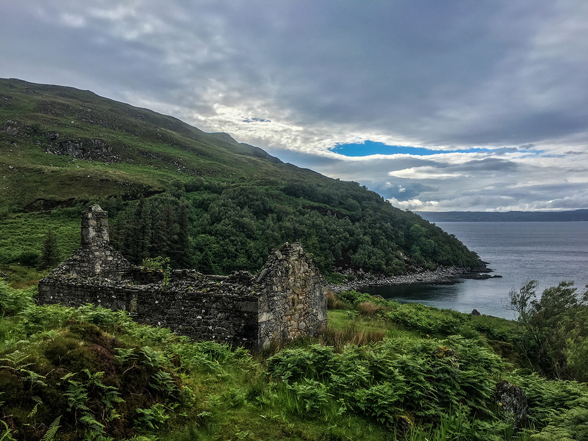 Croft ruins in Mallaig Scotland