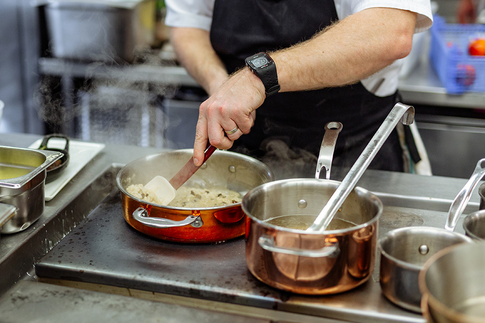 Proware Kitchen pots and pans in use