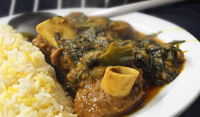 Lamb & Spinach Karahi Gosht (Indian Lamb Curry)