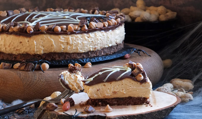 No-Bake SKIPPY® Peanut Butter Cheesecake #SKIPPYhalloween