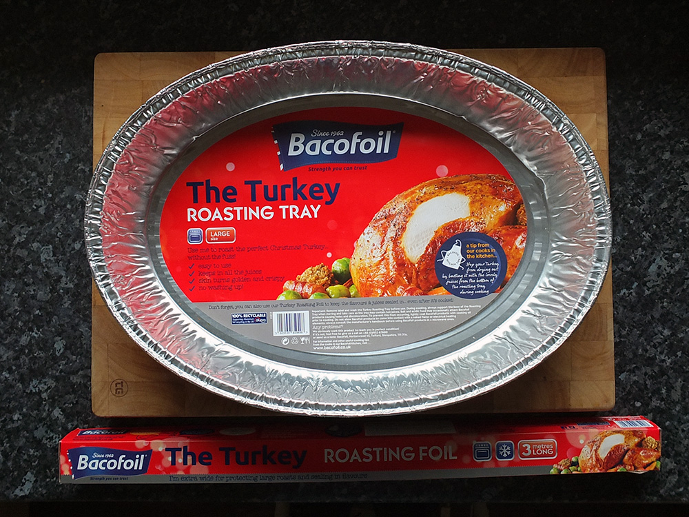 BacoFoil Turkey Roasting Platter and Foil image