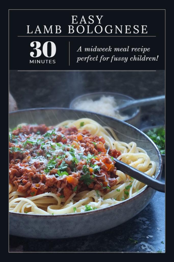 Easy lamb bolognese recipe