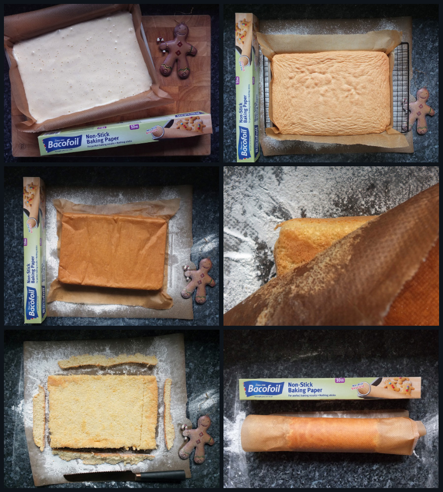 How to roll up a swiss roll collage image