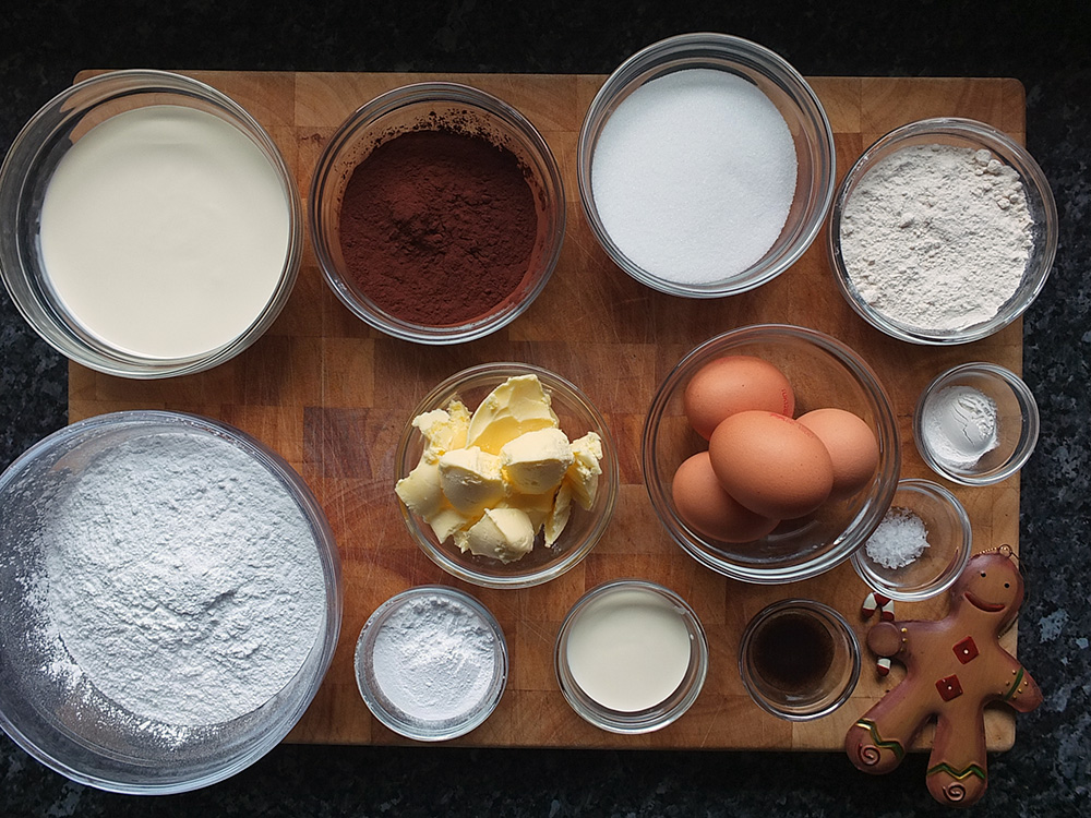 Ingredients for Buche de Noel image