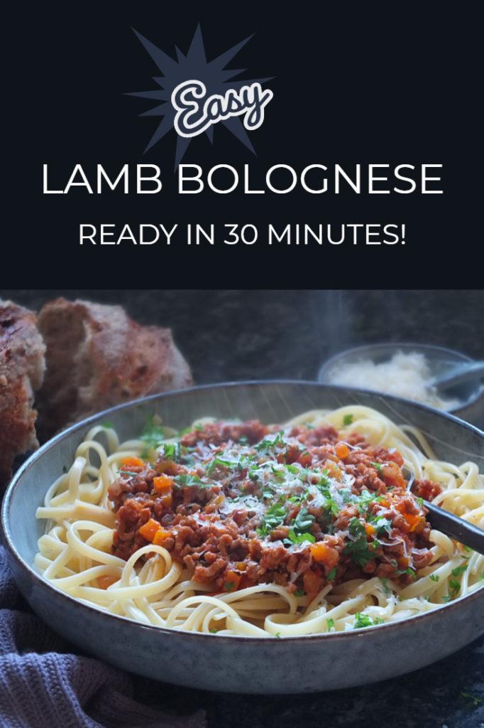 Lamb bolognese recipe