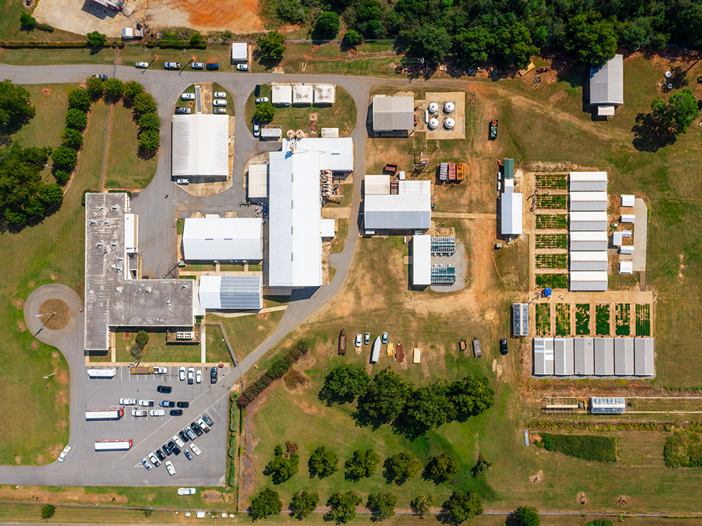 National Peanut Research Lab Dawson Georgia USA aerial photo