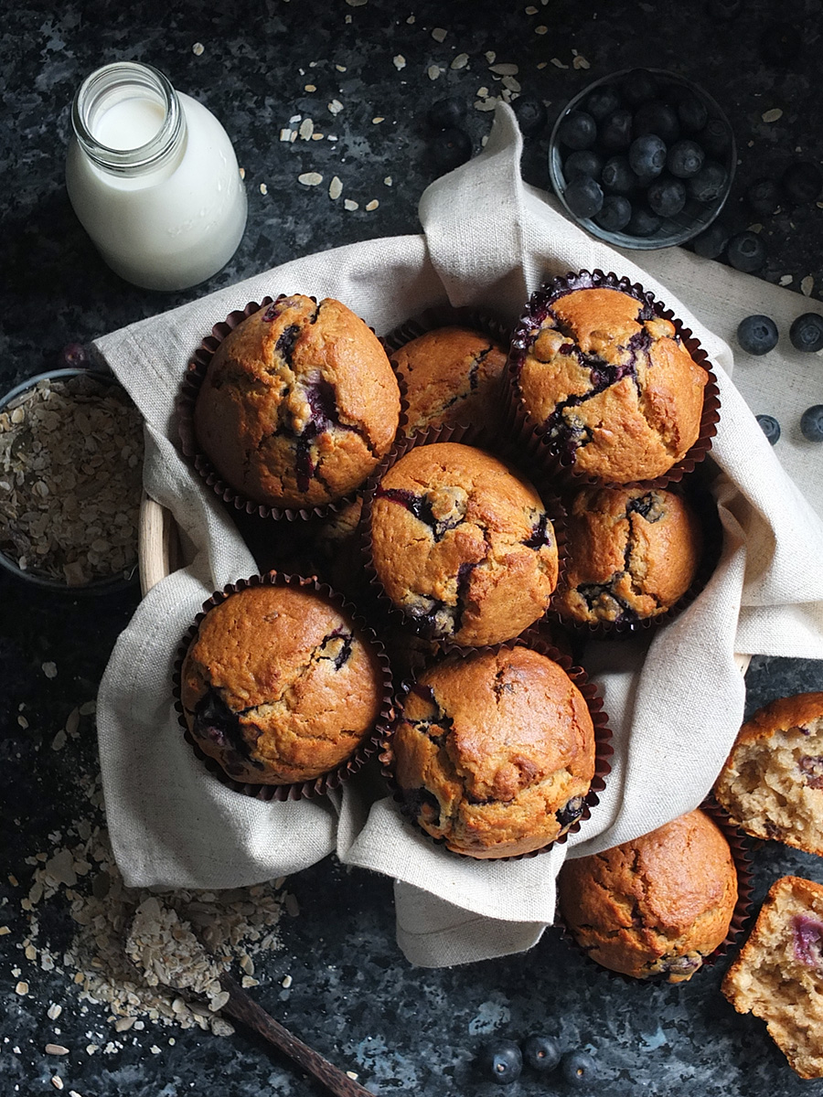 Blueberry Muesli Muffins Recipe image