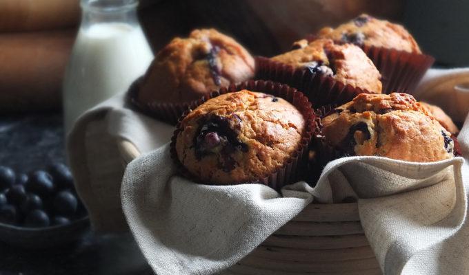 Blueberry Muesli Muffins