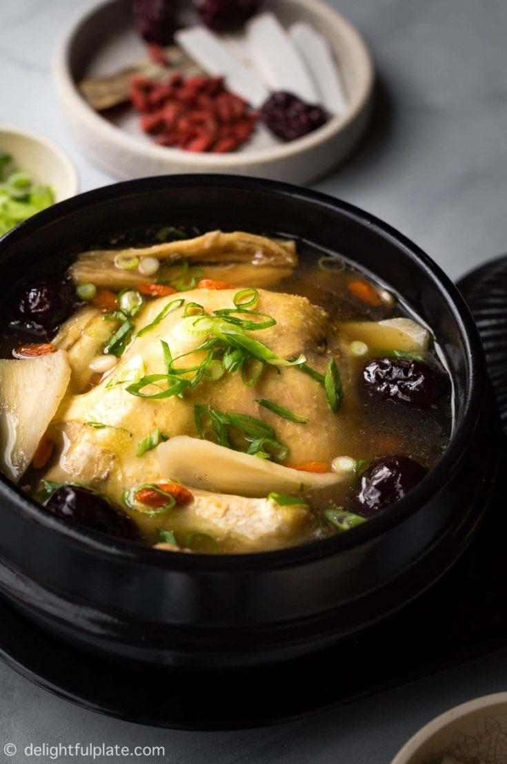 Vietnamese Coconut Herbal Chicken Soup