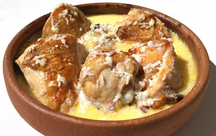 Georgian Chicken Cooked in Milk and Garlic – Shkmeruli