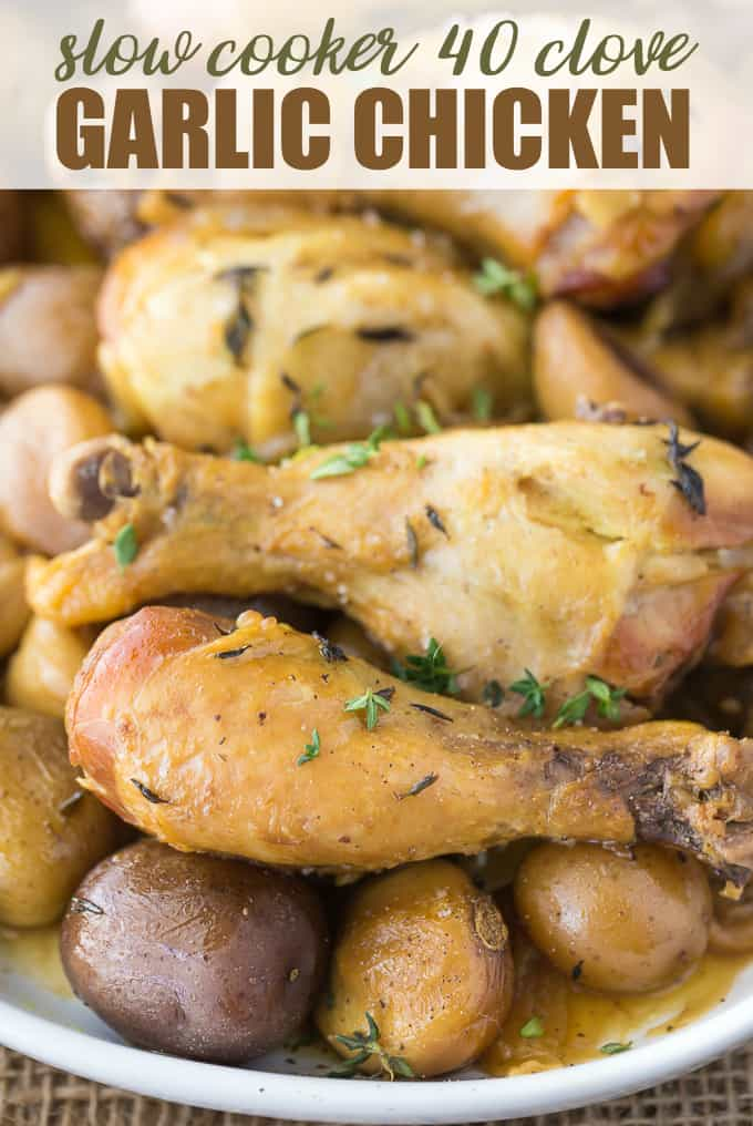 Slow Cooker 40 Clove Garlic Chicken