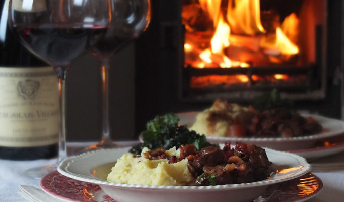 Slow Cooked Lamb Bourguignon