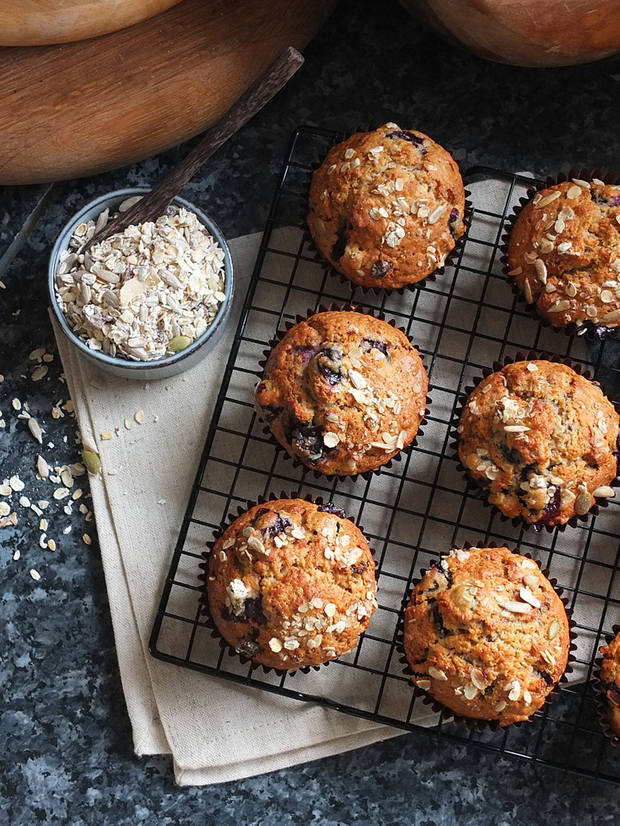 Blueberry Muesli Muffins Recipe photo