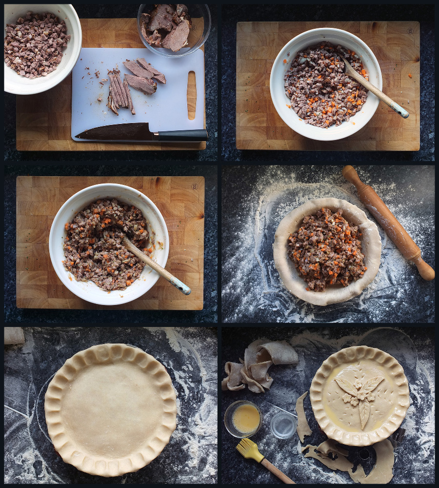 How to make roast lamb and rosemary pie step by step instructions