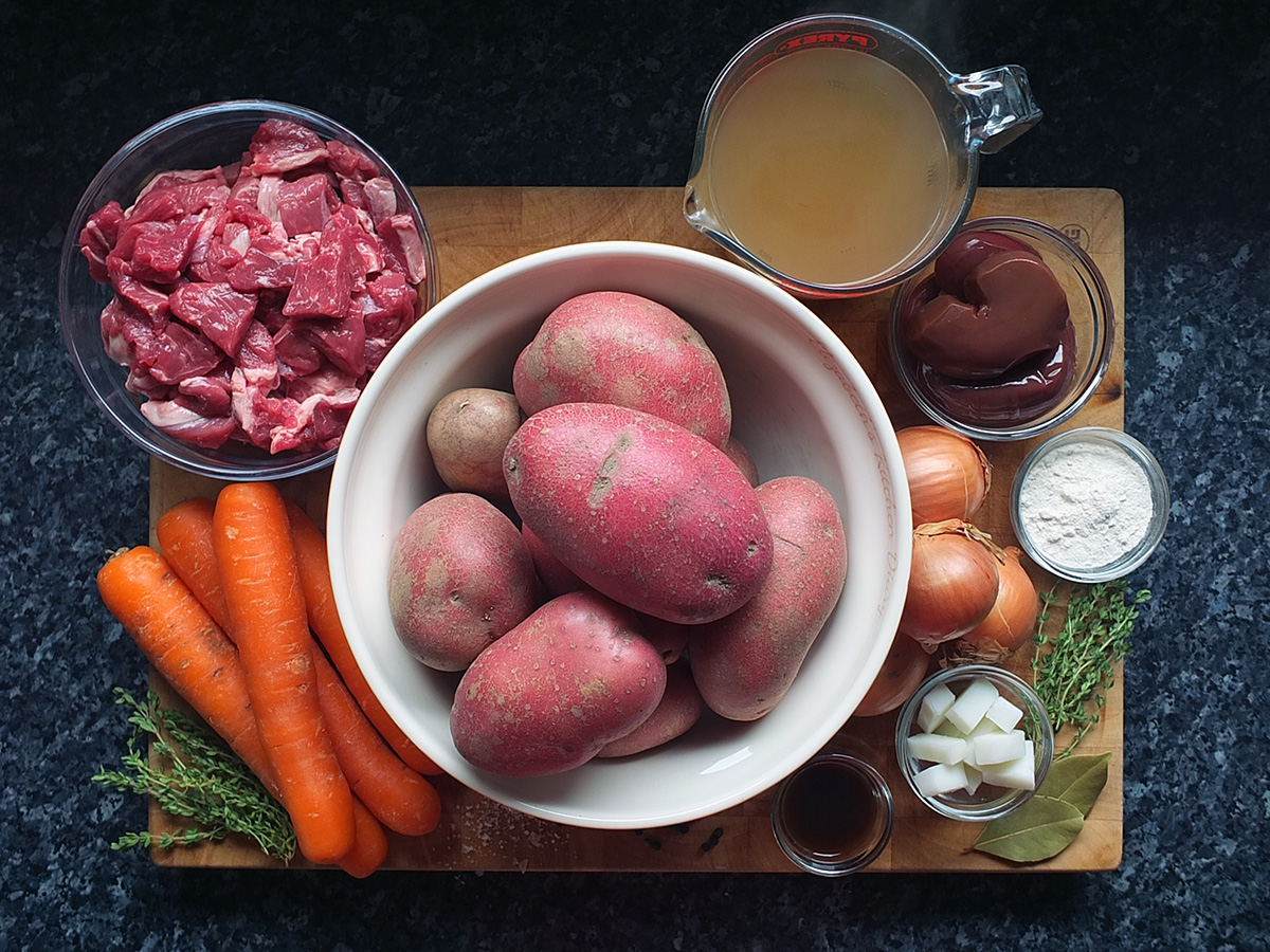 Ingredients for Lancashire hotpot image