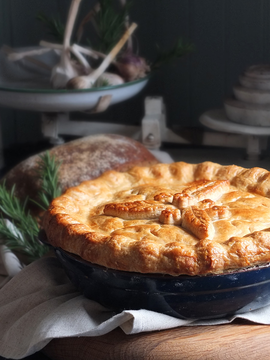 roast lamb and rosemary pie image