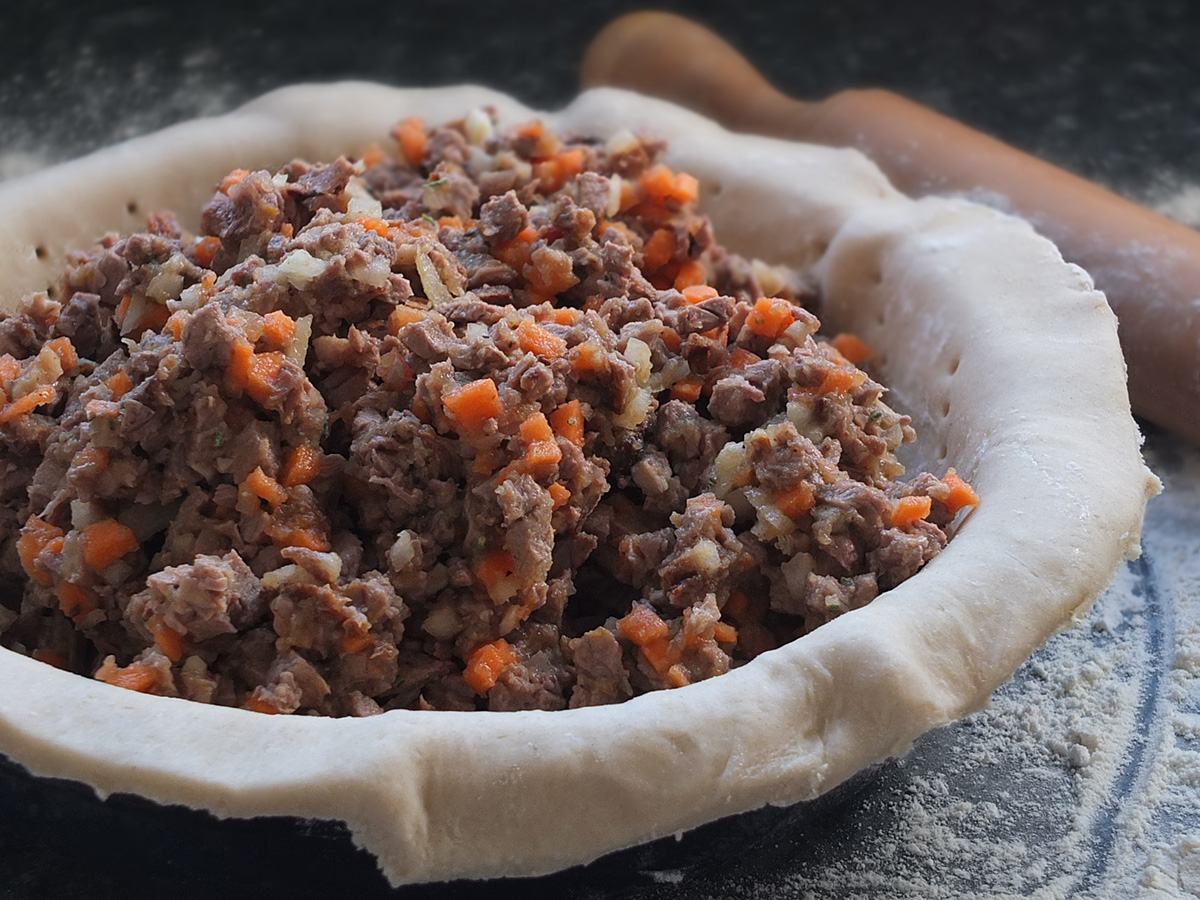 roast lamb pie filling image