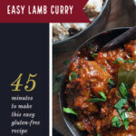 How to make an easy lamb curry pinterest image