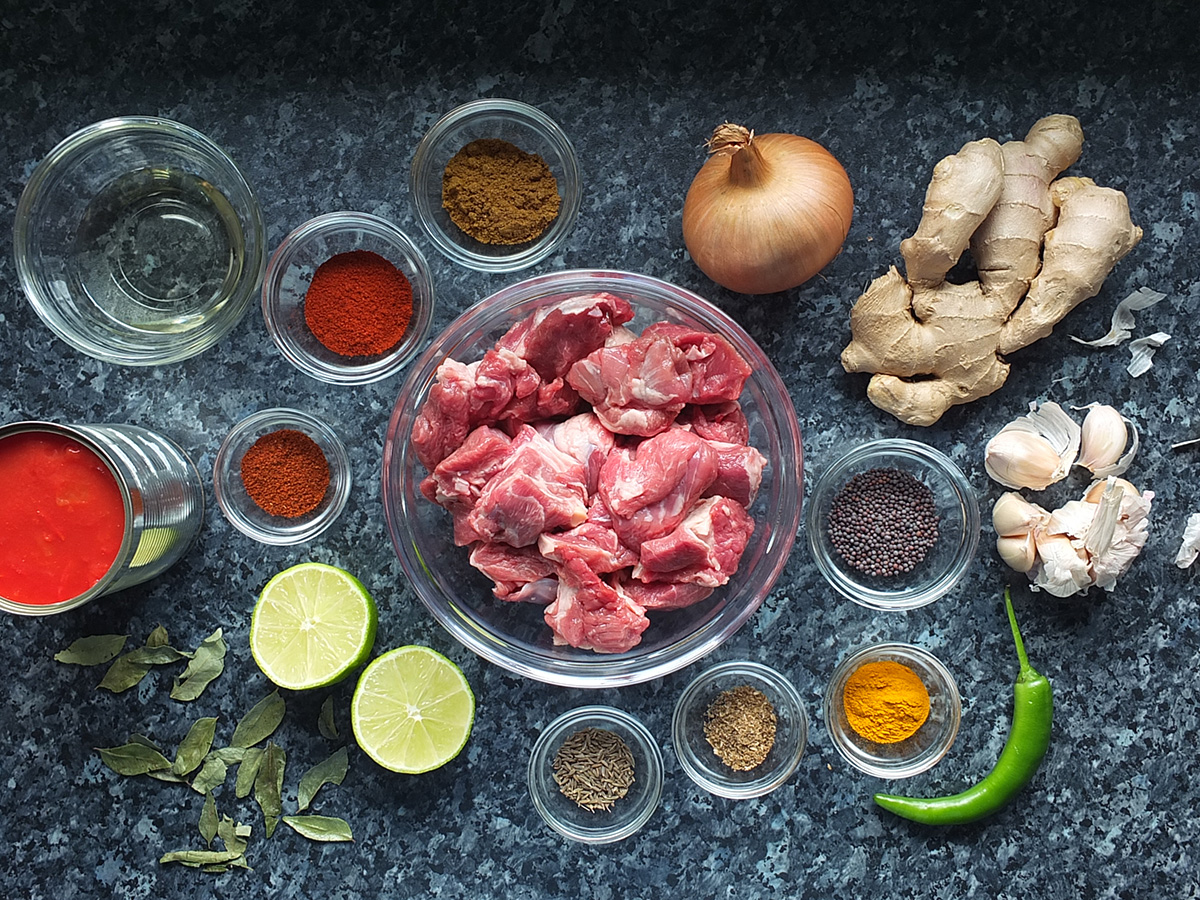 Ingredients for gluten free curry recipe image ekd 1