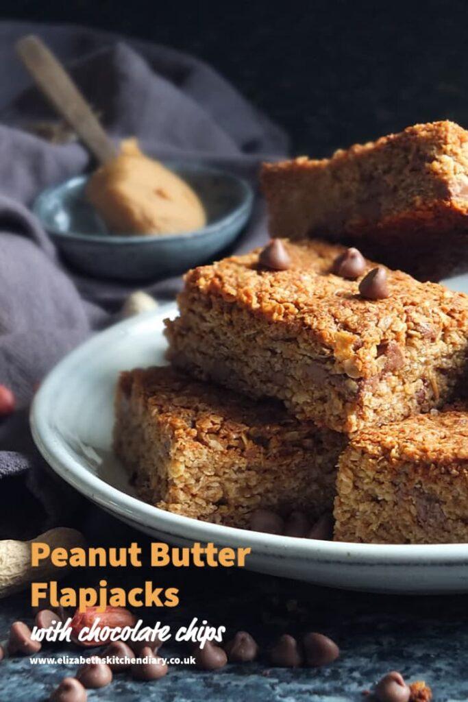 peanut butter flapjacks recipe pin