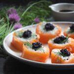Smoked Salmon Uramaki with Lumpfish Caviar image