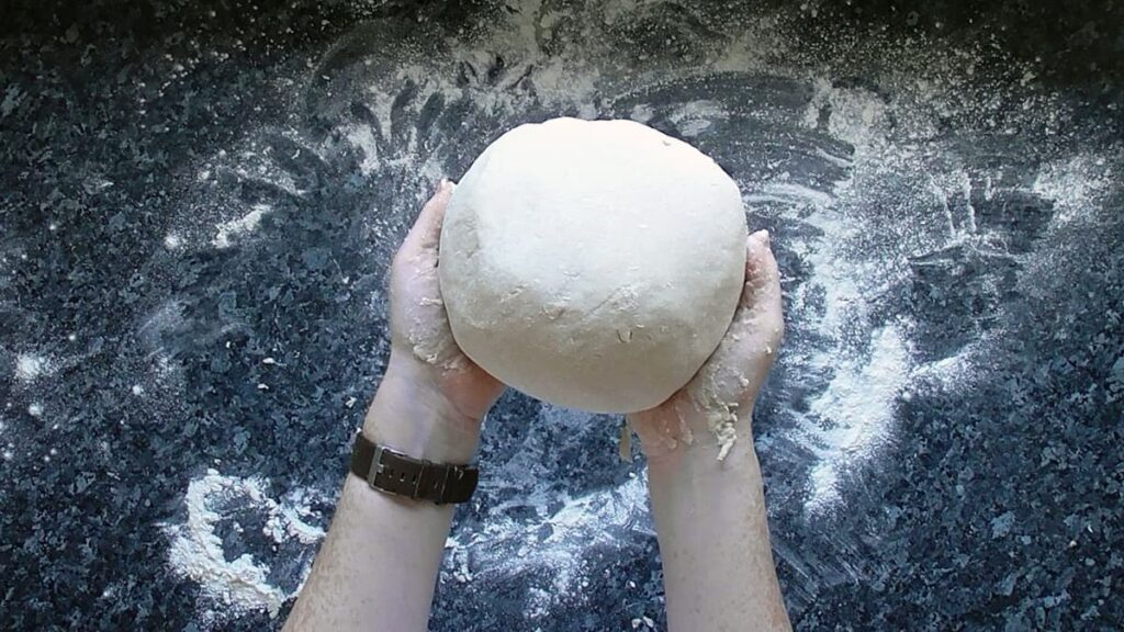 step 6 knead until a soft dough forms