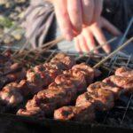 BBQ lamb skewers image