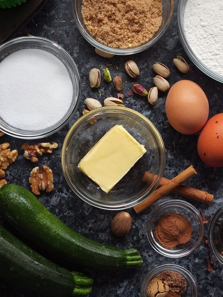 Photo of Kerrygold butter surrounded in cupcake ingredients.
