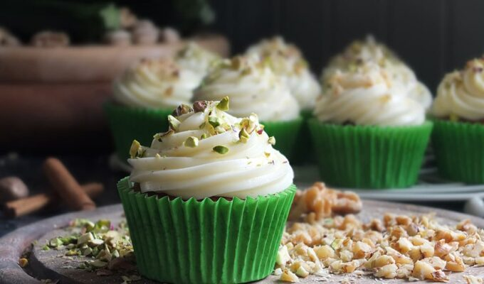 Spiced Courgette Cupcakes with Cream Cheese Frosting