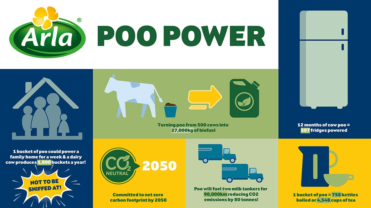 Infographic showing the merits of Poo Power.