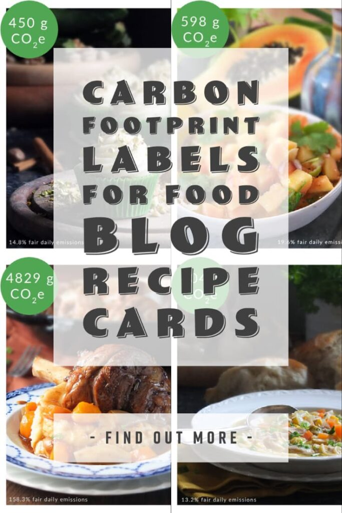 Pinterest pin for carbon footprint labels.