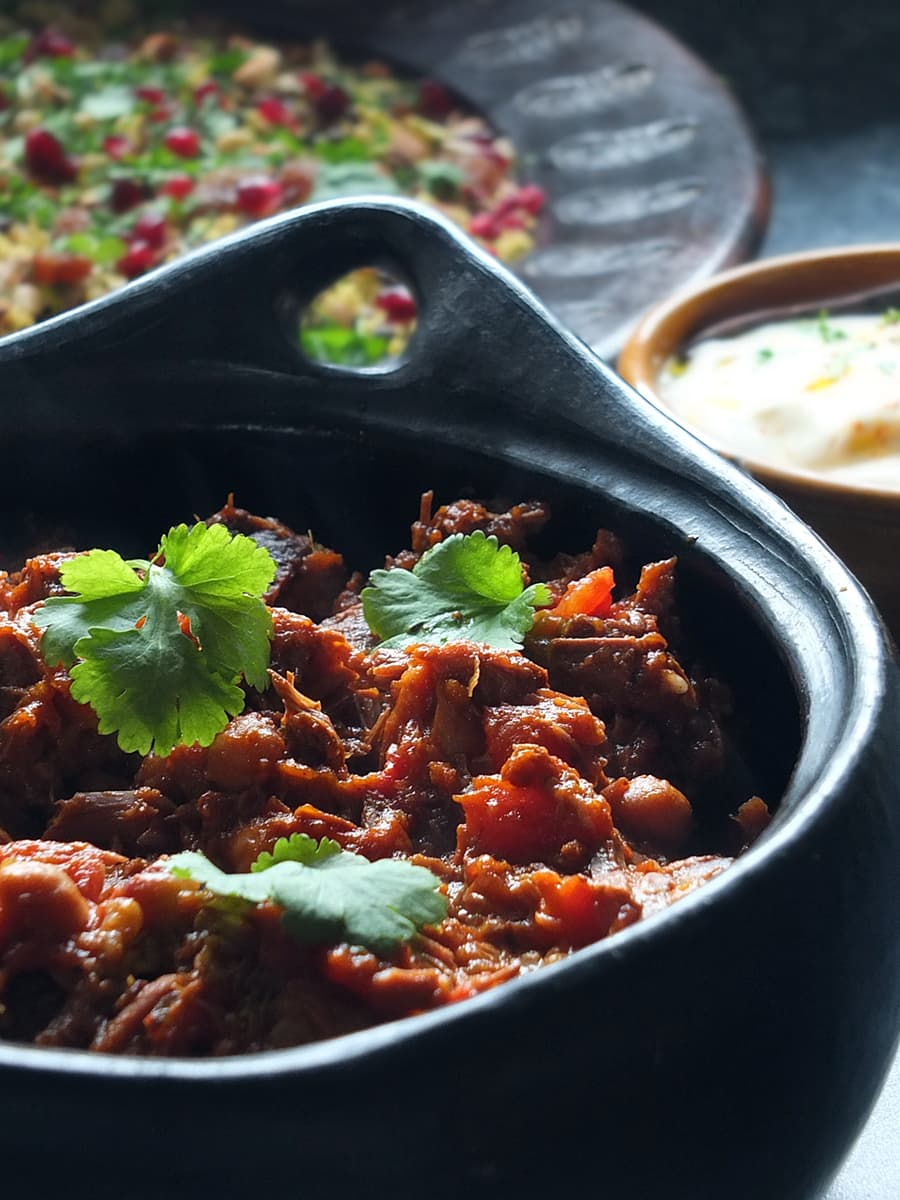 Image of Moroccan-inspired slow cooked lamb recipe.