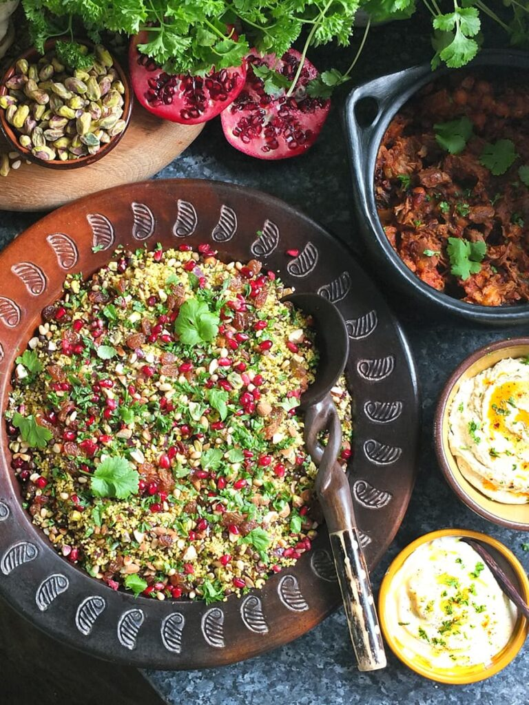 Image of dishes to serve with jewelled couscous.