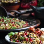 Jewelled couscous pinterest pin.