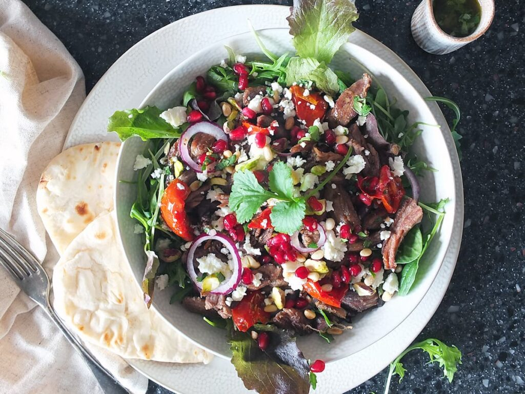 Image of the finished salad ready to serve.