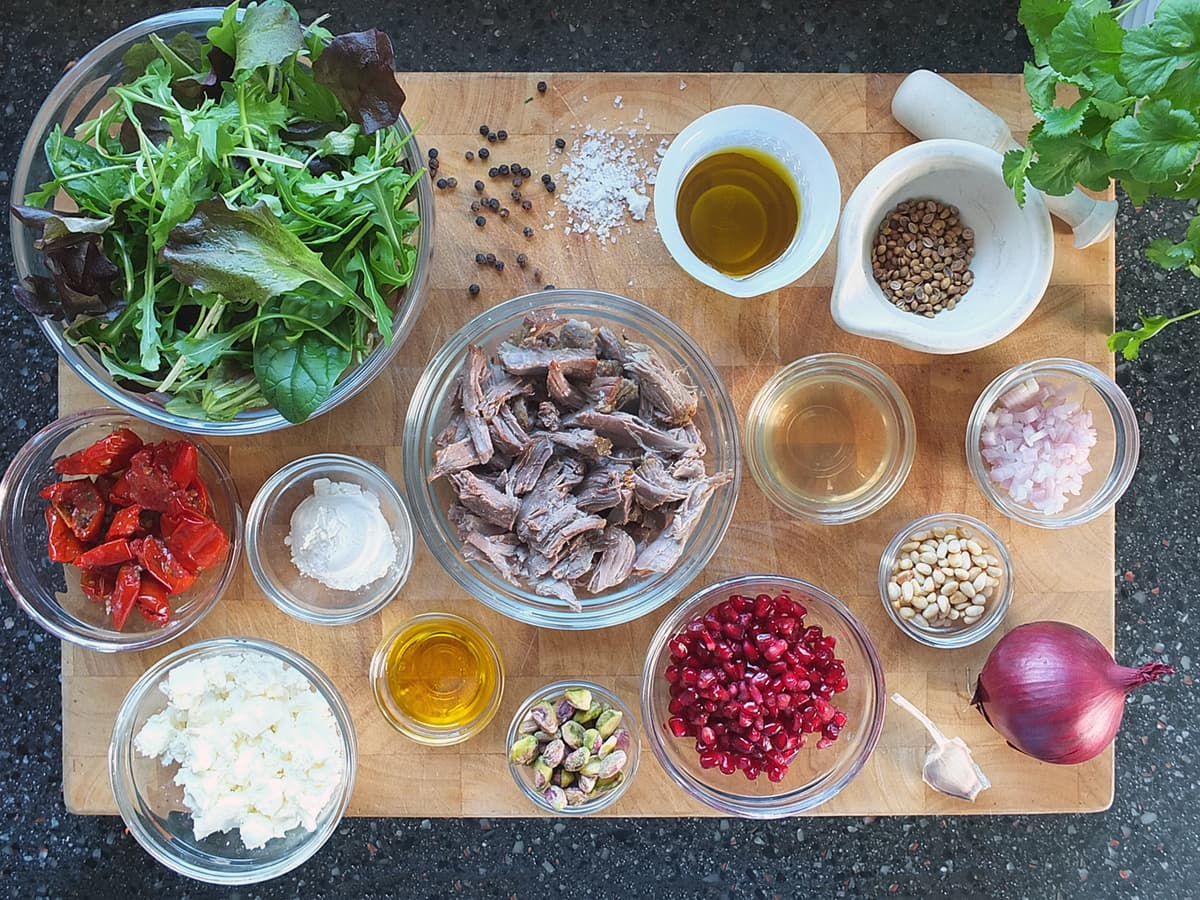 Top down image of all the ingredients in this recipe.