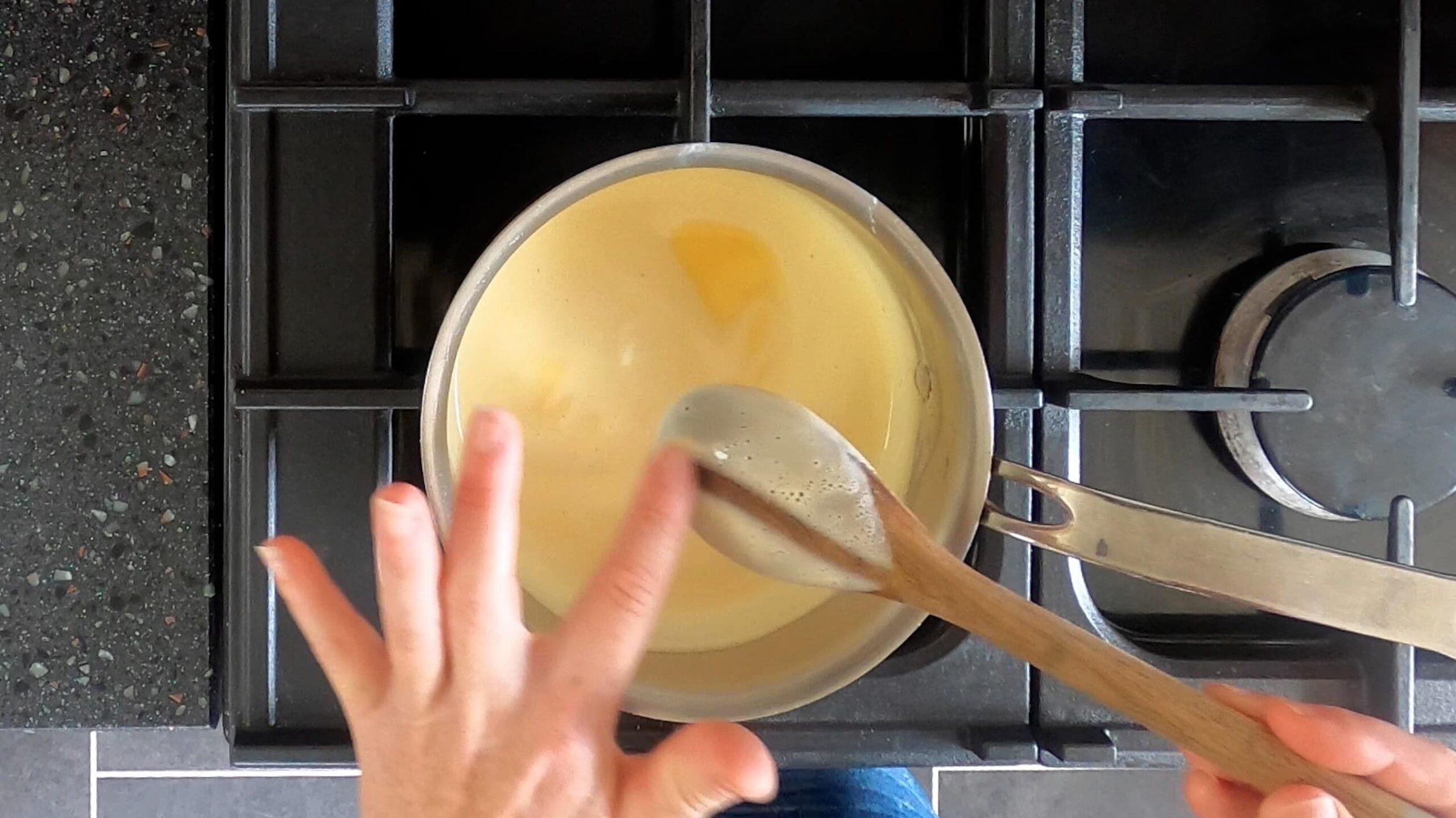 How to make custard ice cream base step 5