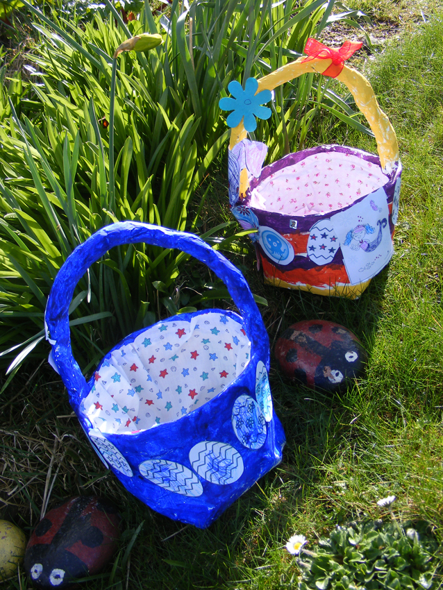 Recycled Newspaper Easter Baskets Elizabeth S Kitchen Diary