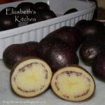 Roasted Shetland Black Potatoes with Sea Salt and Rosemary