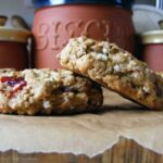 Chewy Oatmeal Cran-Raisin Pecan Cookies with Almond Breeze (gluten free)