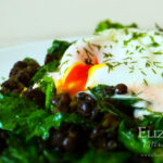Poached Egg with Spiced Puy Lentils & Asparagus Kale