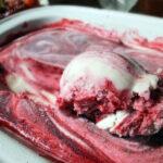 Vegan Blackcurrant Ripple Ice Cream