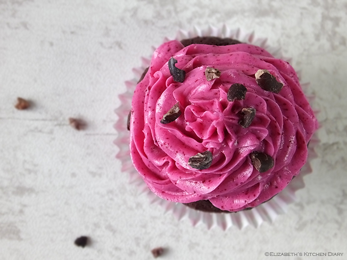 Roasted Beetroot and Raw Cacao Nib Cupcakes