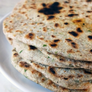 brown flatbreads