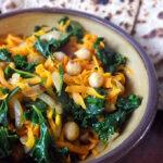 Ginger & Garlic Chickpeas with Kale