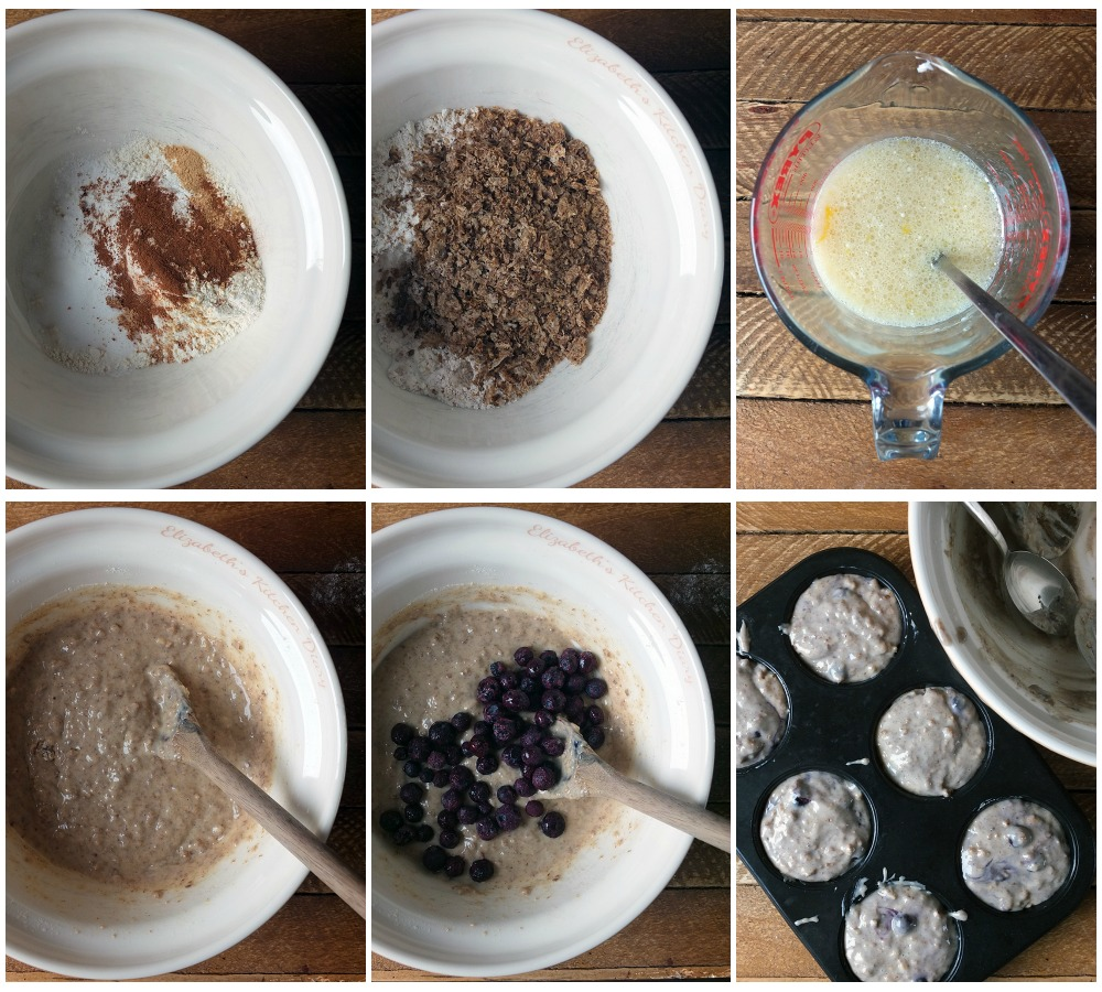 How to make blueberry weetabix muffins