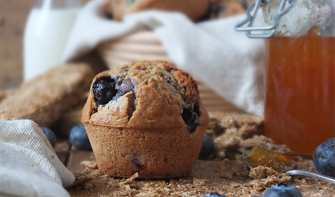 Easy Blueberry Weetabix Muffins