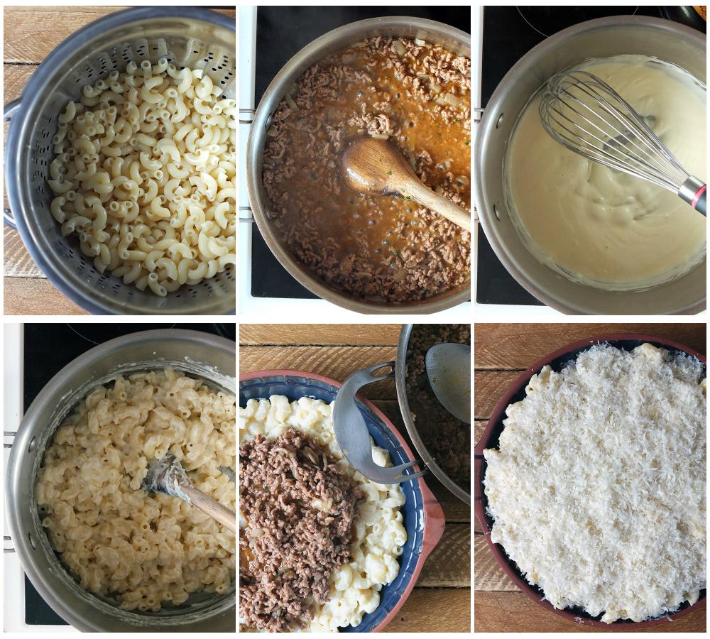 Pastitsio Greek Macaroni Pie Recipe step by step